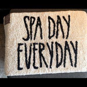 Rae Dunn  SPA DAY EVERYDAY Bathroom Mat